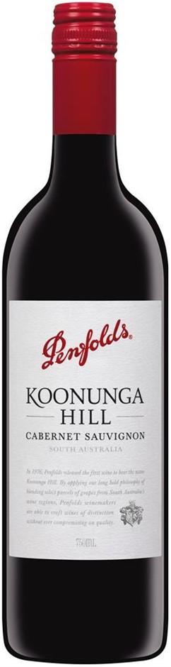Penfolds `Koonunga Hill` Cabernet Sauvignon 2018 (6 x 750mL), SA.