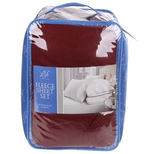 Life Comfort Fleece Sheet Set Queen Size 4pc Set 100 Polyester