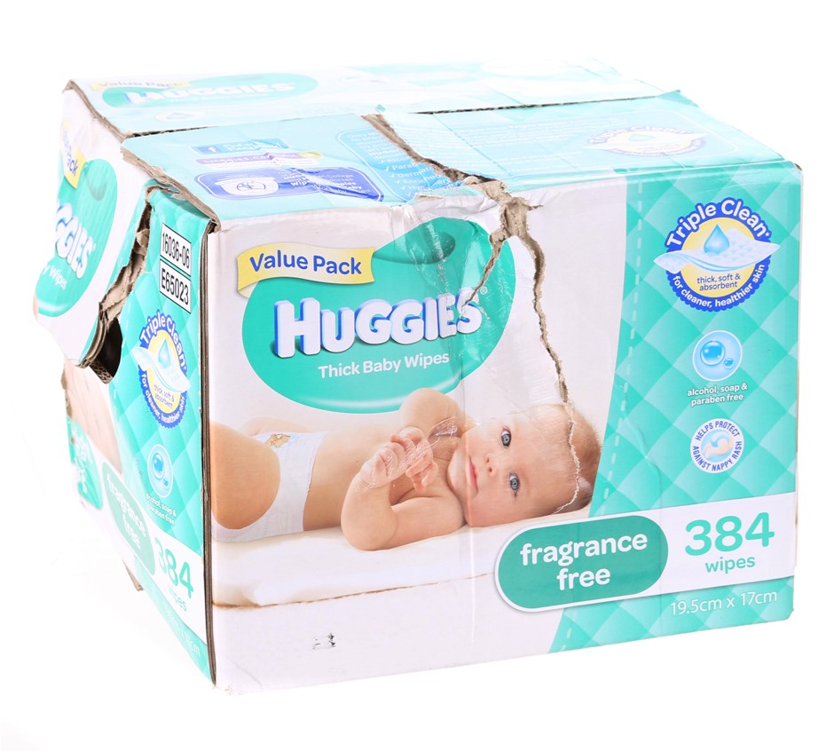 HUGGIES Thick Baby Wipes, Approx. 640 Sheets, Fragrance Free. Buyers Note -