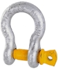 8 x Bow Shackles, WLL 2T, Screw Pin Type, Grade S, Yellow Pin. Buyers Note