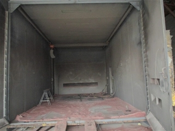 Major Metal Fabrication Abrasive Blast Room Spray Booth
