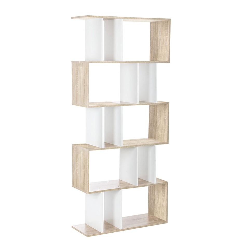 5 Tier Display Book Storage Shelf Unit White Brown. ex display home furniture perth   Graysonline