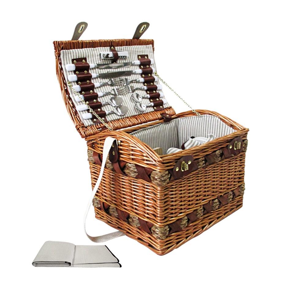 Alfresco 4 Person Picnic Basket - Brown