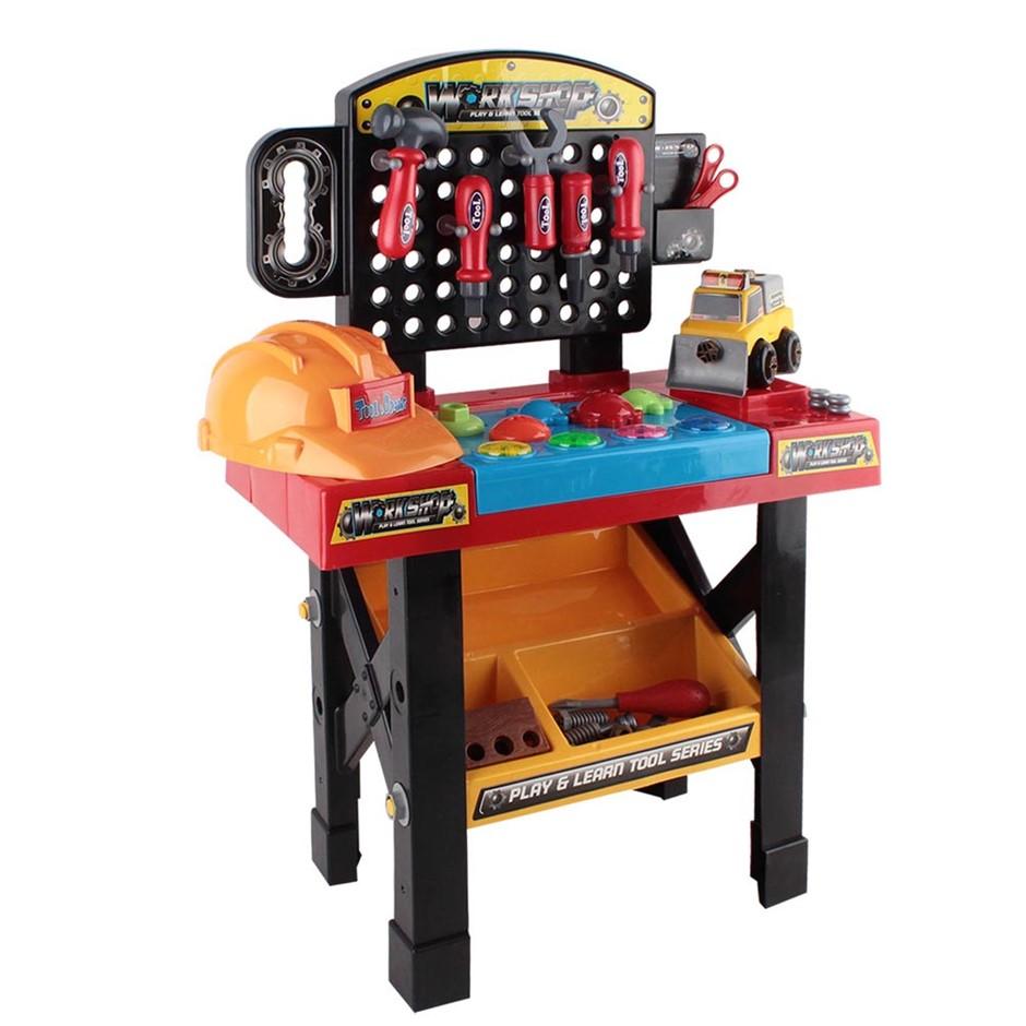 Keezi 52 Piece Kids Workbench Set Black