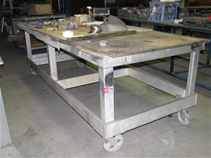 Strange Mobile Work Bench Aluminium Fabricated Frame Mdf Timber Bench Top Approx Ncnpc Chair Design For Home Ncnpcorg