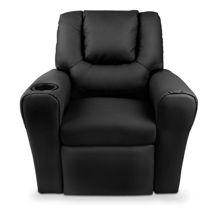Buy Artiss Kids PU Leather Reclining Armchair - Black ...
