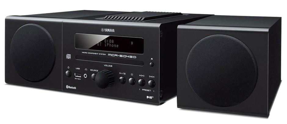 Yamaha MCR-B043D Mini HiFi System (Black)