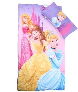 Disney Princess 2pc Sleeping Bag With Pillow 53 X 28ins Zipped