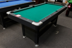 Pool table playmate 6 x 3 with wooden base and frame - Pool table green felt ...