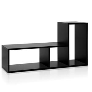 Artiss DIY L Shaped Display Shelf - Blac