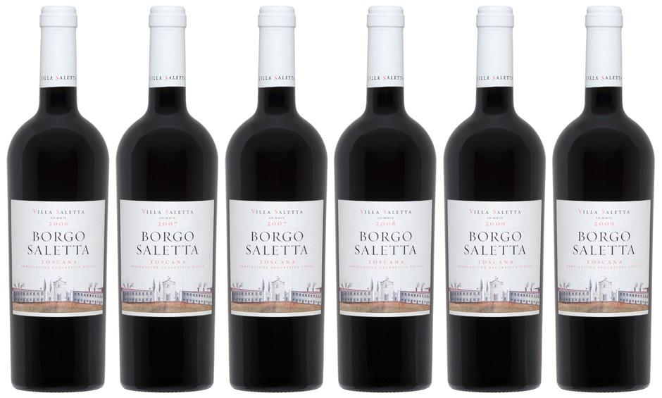 Borgo Saletta Vino Rosso Toscano IGT Vertical Pack (6 x 750mL)
