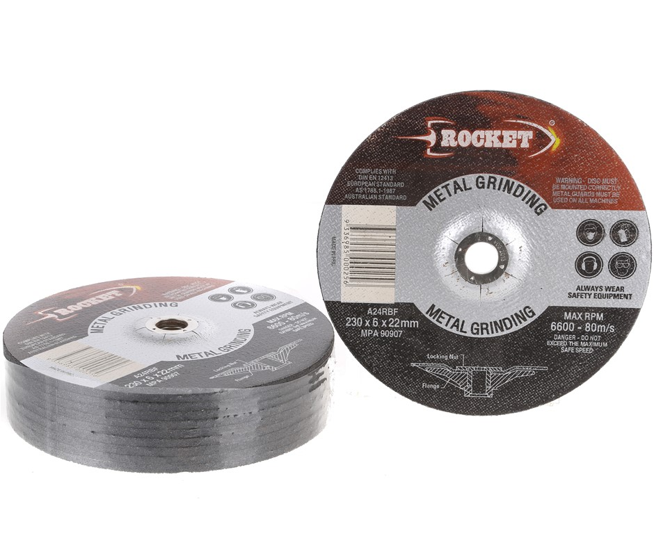 10 x Metal Grinding Discs 230 x 6 x 22mm. Buyers Note - Discount Freight Ra
