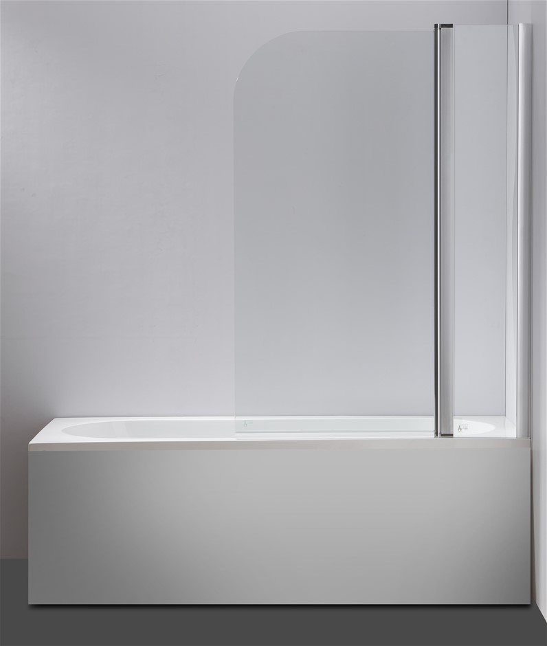 180° Pivot Door 6mm Safety Glass Bath Shower Screen 1000x1400mm