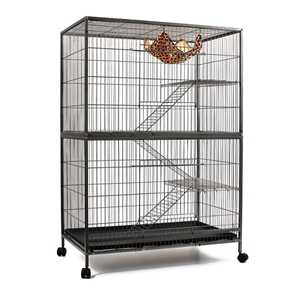 i.Pet 4 Level Pet Cage - Black