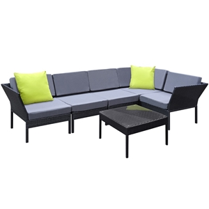 Gardeon 6 Piece Outdoor Wicker Sofa Set