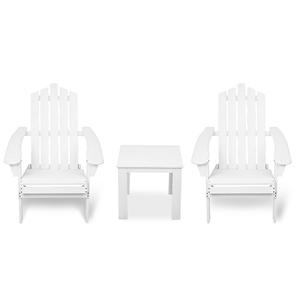 Gardeon 3 Piece Wooden Outdoor Chair and