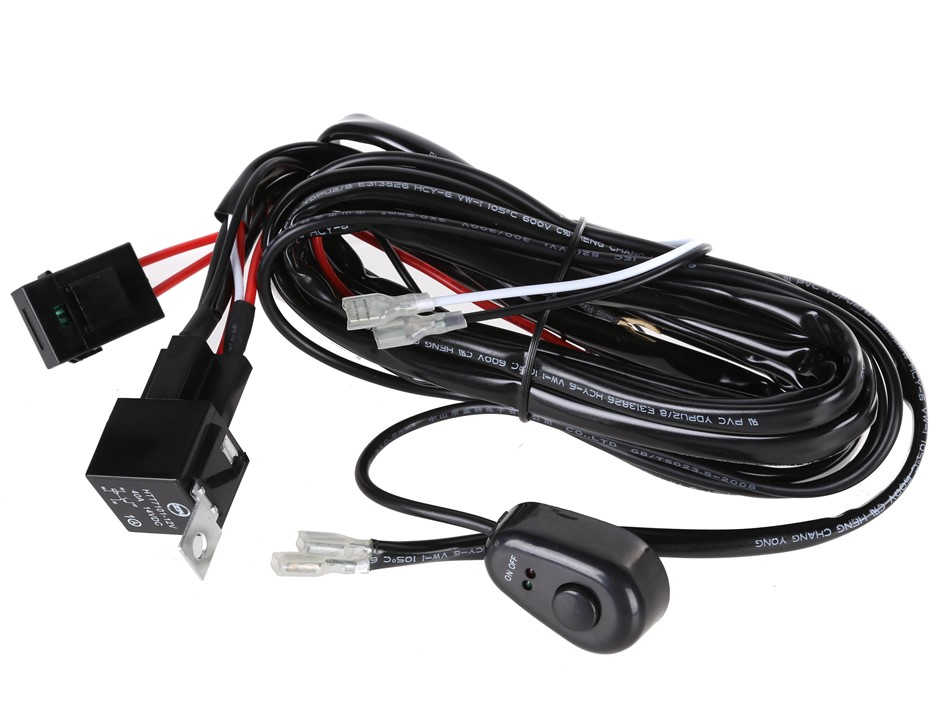 Heavy Duty Wiring Loom Harness with 40amp Switch Relay Kit Suits LED Light