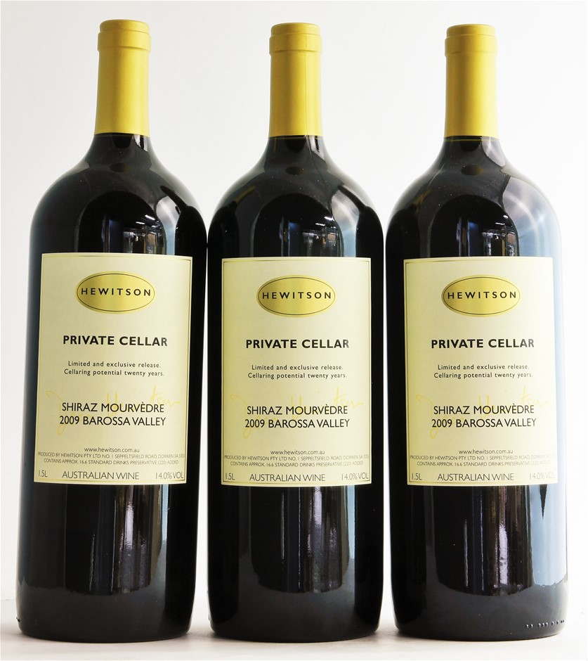 Hewitson `Private Cellar` Shiraz Mouvedre 2009 (3 x 1.5L Magnum) Barossa.