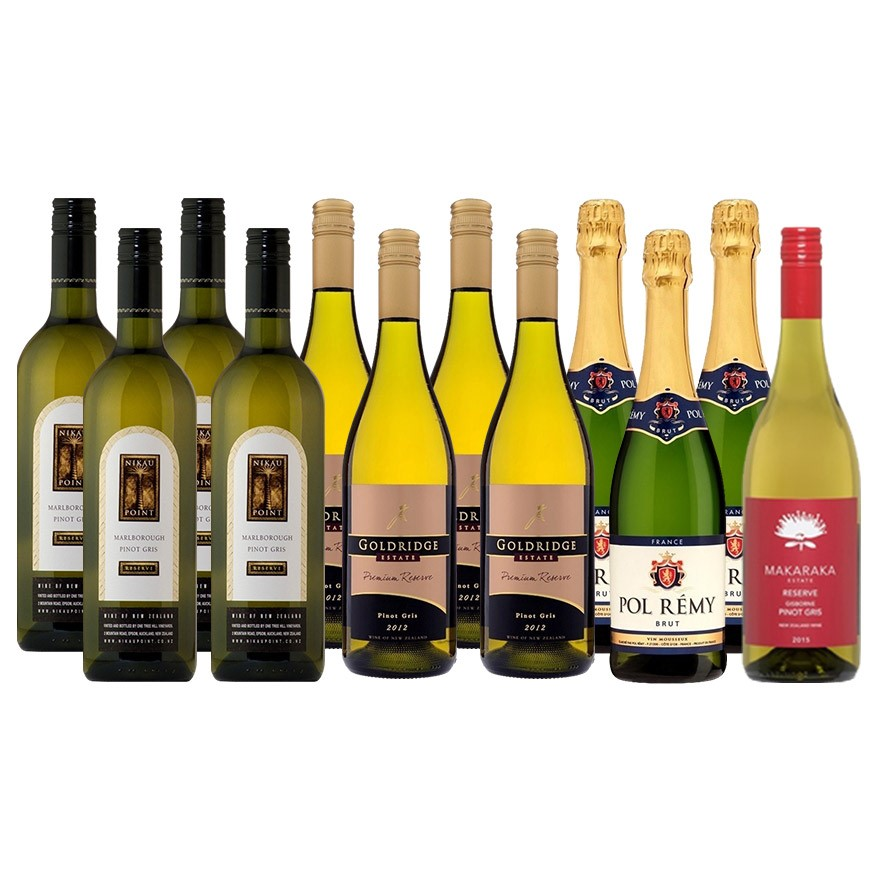 New Zealand Pinot Grigio Selection + Sparkling (12 x 750mL)