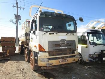 2012 Hino 8x4 Water Truck ( Not Running )