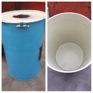 220 litre Steel Drum with lid, ring and