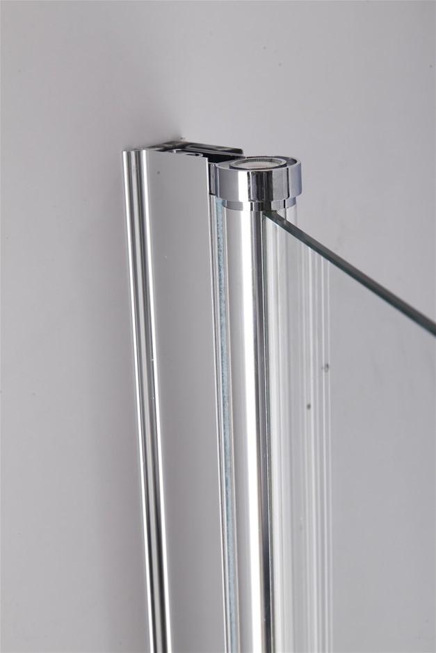 3 Fold Chrome Folding Bath Shower Screen Door Panel 1300mm x 1400mm