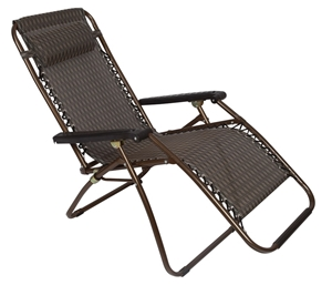 2 x Bronze Lounge Chairs - Patio Outdoor