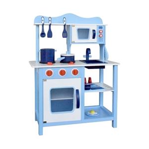 Keezi Kids Wooden Kitchen Play Set - Blu