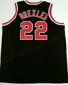 76022441b Clyde Drexler Signed Trail Blazers Throw. Clyde Drexler Signed Trail  Blazers Throwback Jersey ...