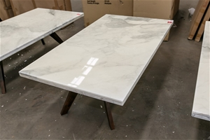 Coffee Table Carrera Marble Top On Timber Legs Approx 1400 X 800 X 450 H Auction 0300