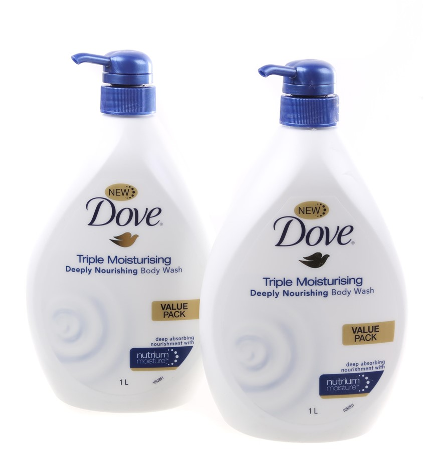 2 x DOVE Triple Moisturing Body Wash, 1L. Buyers Note - Discount Freight Ra