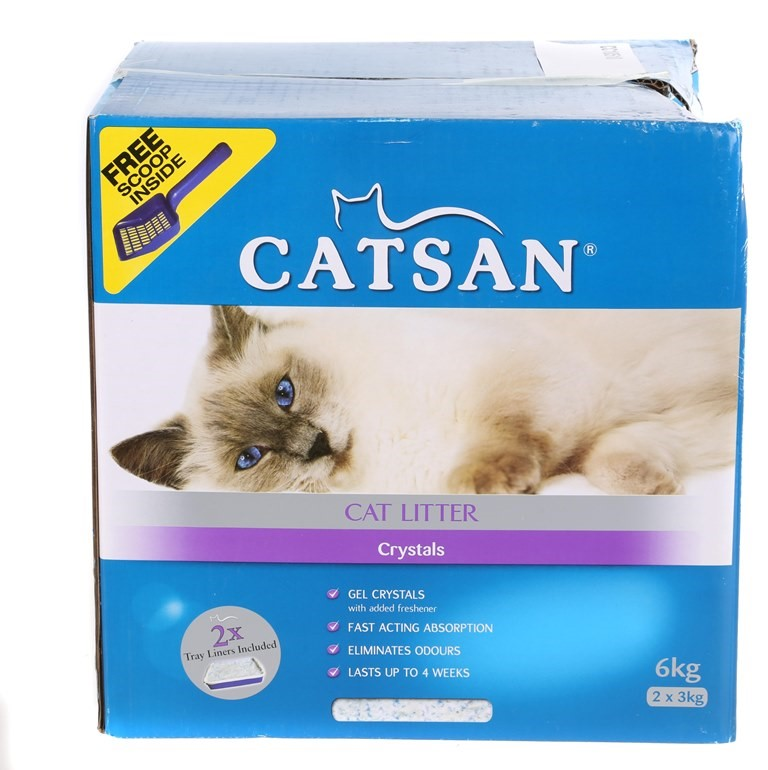CATSAN Cat Litter Crystals 6kg. N..B Damaged Box. (SN:CC10510) (267514-329)