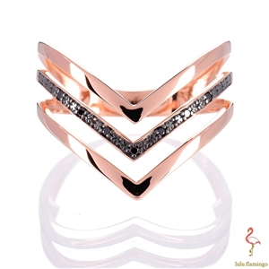 NEW Lulu Flamingo 9ct Solid Rose Gold Bl