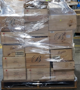 1 pallet of empty wooden wine boxes auction 0001 2448779 for Empty wine crates