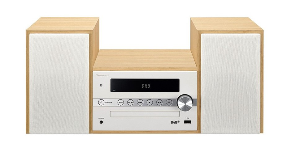 Pioneer CM56DW HI-FI CD Receiver System with DAB+ (White)