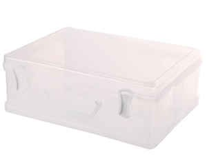 15 x Clear Plastic Carry Cases 300 x 220