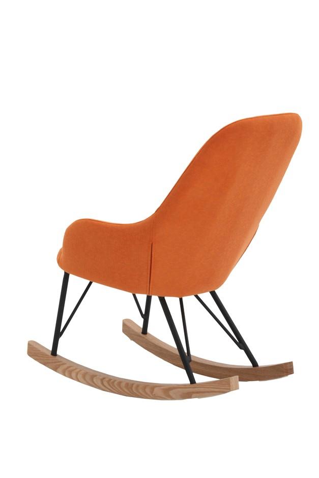 NEW Unica Kids Rocking Chair Cushion Wooden Fabric Recliner - Orange ...
