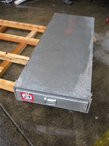Utility Under Tray Slide Out Tool Drawer Galvanised Sheet
