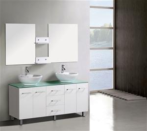 Modern freestanding vanity double bathroom cabinet - Freestanding double bathroom vanity ...