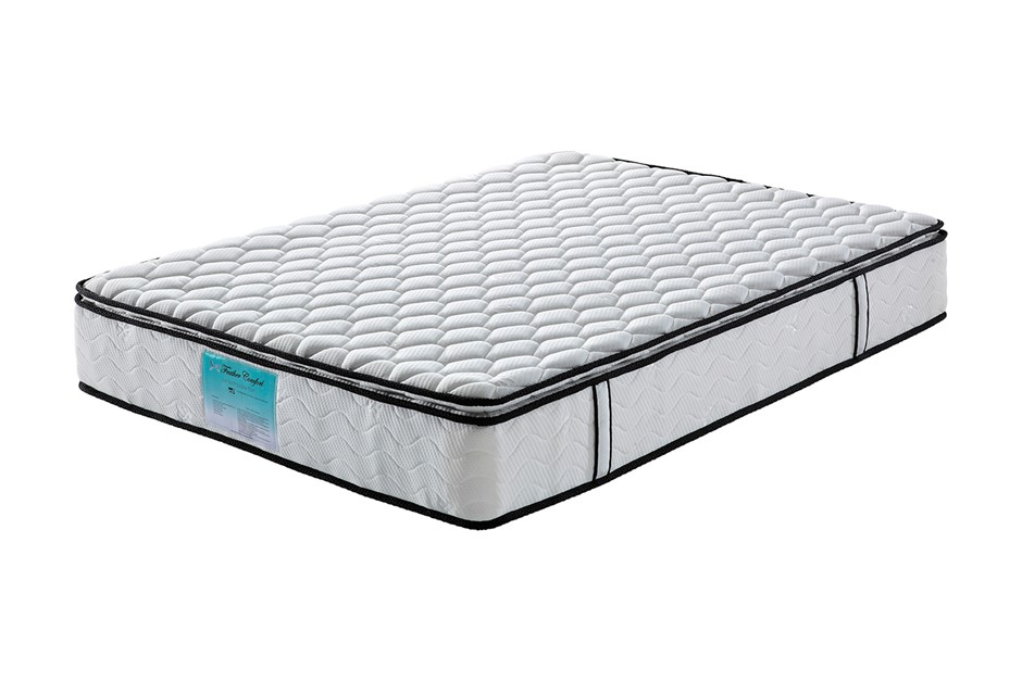 Pillow Top Pocket Spring Mattress with Natural Latex - King Single Size