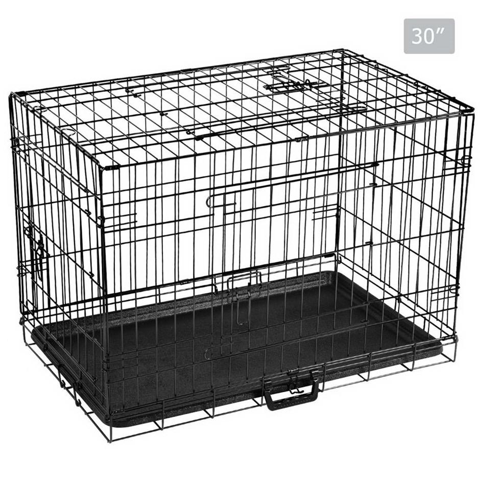 i.Pet 30inch Pet Cage - Black