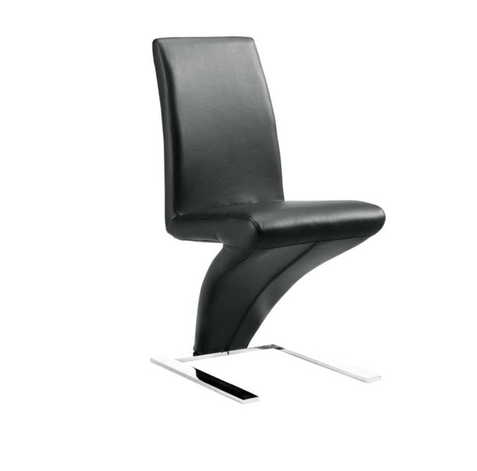 Set of 2 x Z Bonded Leather Dining Chairs