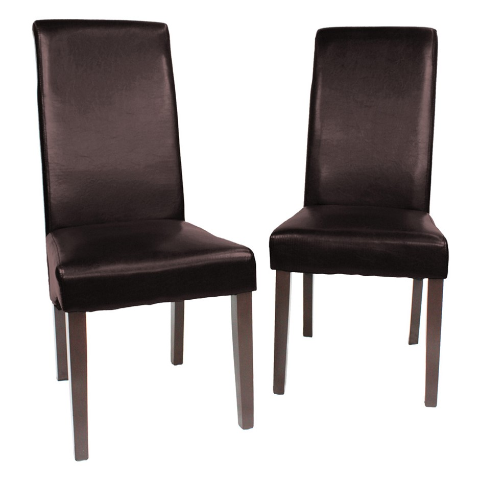 Set of 2 x Swiss Wooden Dining Chairs