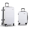 Wanderlite 2 Piece Lightweight Hard Suit Case - White