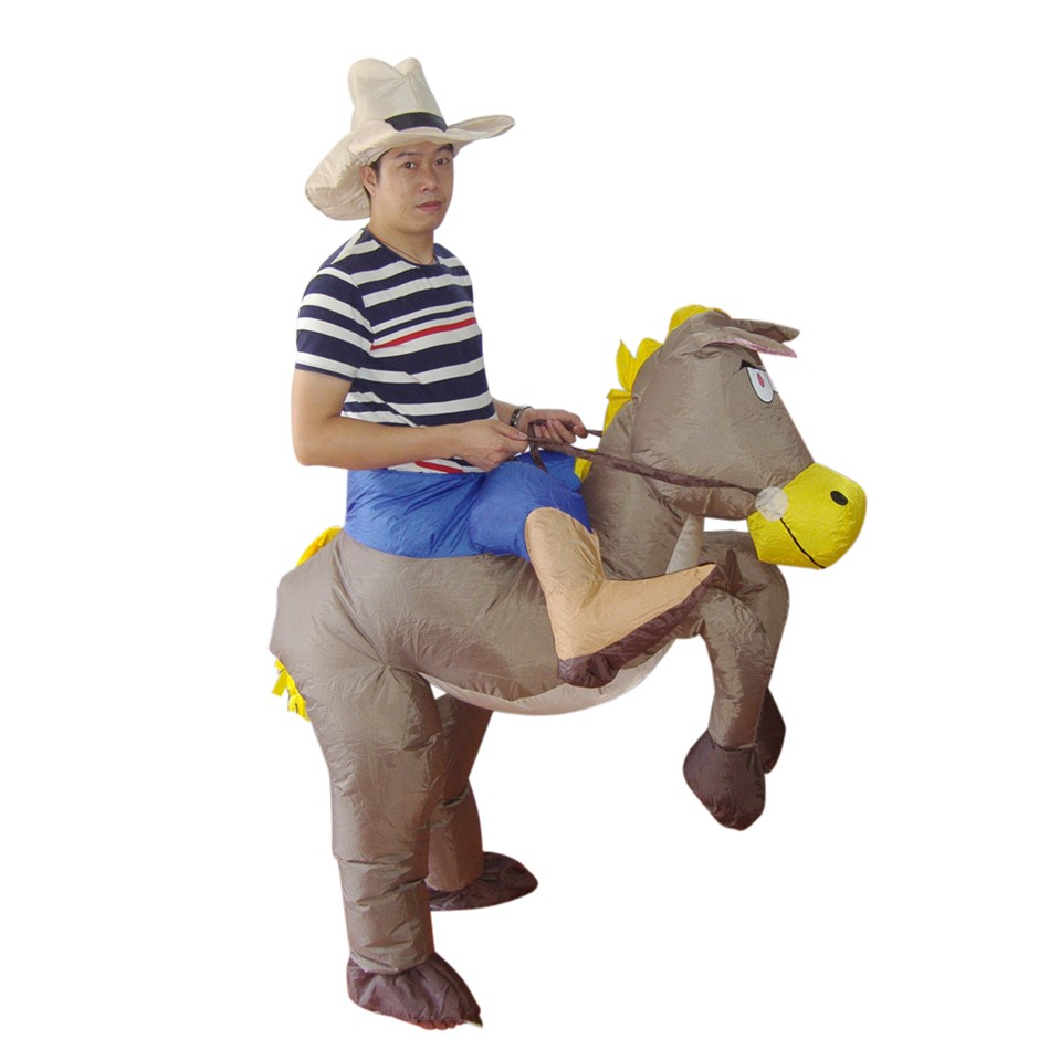 COWBOY Fancy Dress Inflatable Suit -Fan Operated Costume