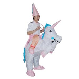 UNICORN Fancy Dress Inflatable Suit -Fan