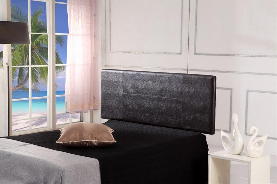 Pu Leather Queen Bed Headboard Bedhead Brown