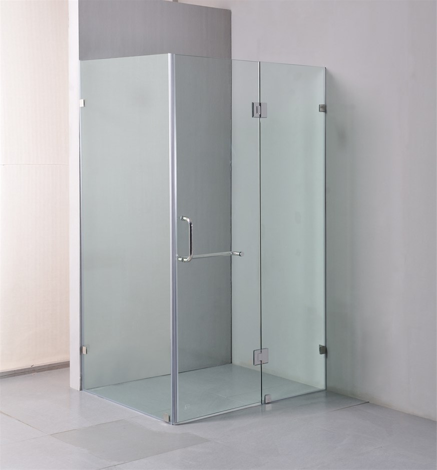 1200 x 900mm Frameless 10mm Glass Shower Screen By Della Francesca