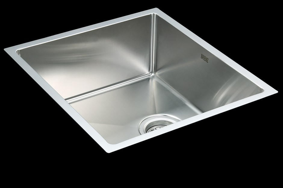 490x440mm Stainless Steel Under/Topmount Kitchen Laundry Sink +Waste
