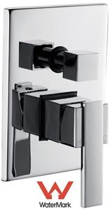 Chrome Bathroom Shower Wall Mixer Divert